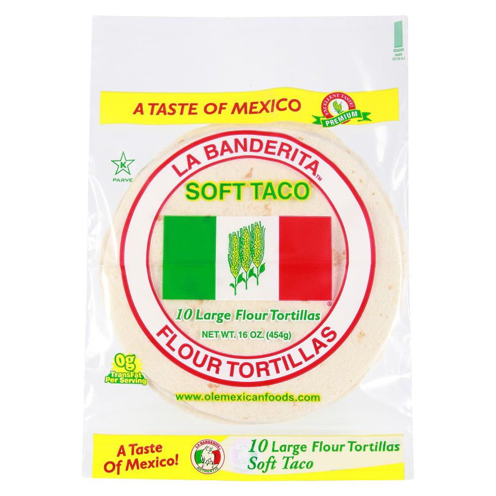 La Banderita Soft taco - Flour - Case of 12 - 16 oz.