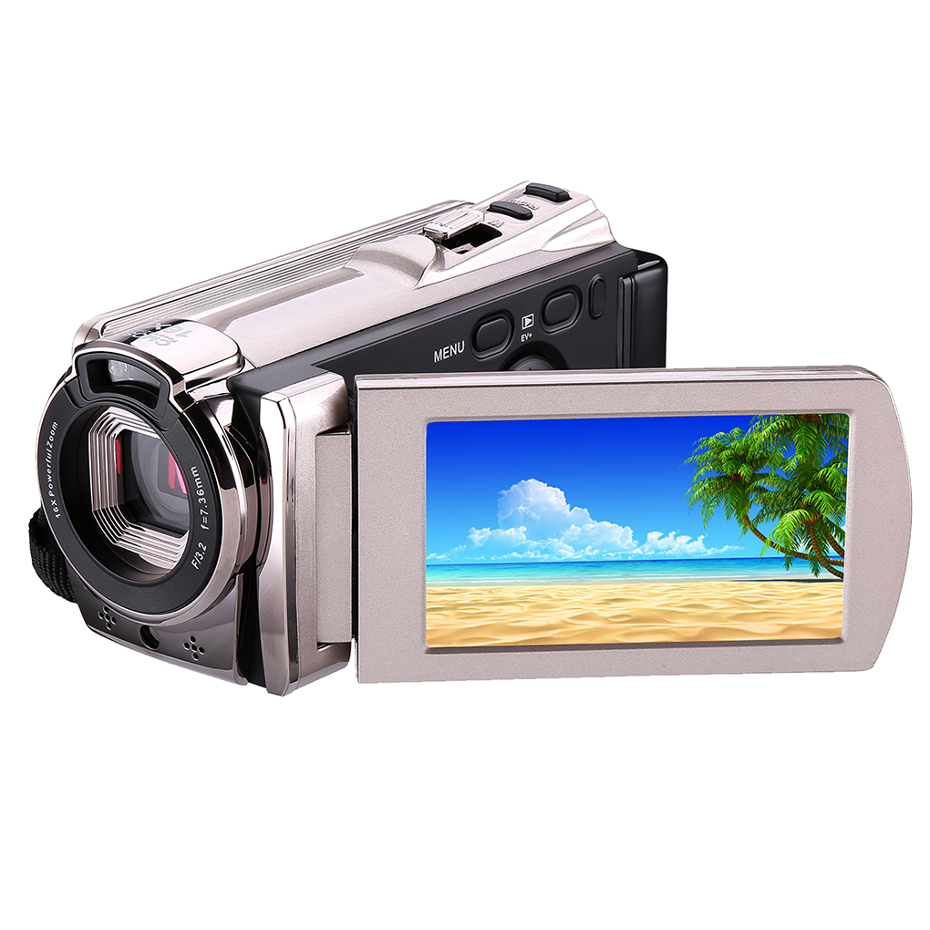 HD Digital Camera 6052SR Champagne Body 3.0 Inch TFT Sscreen ,270 Degrees Rotation HD Output,Infrared Night Vision,With WIFI