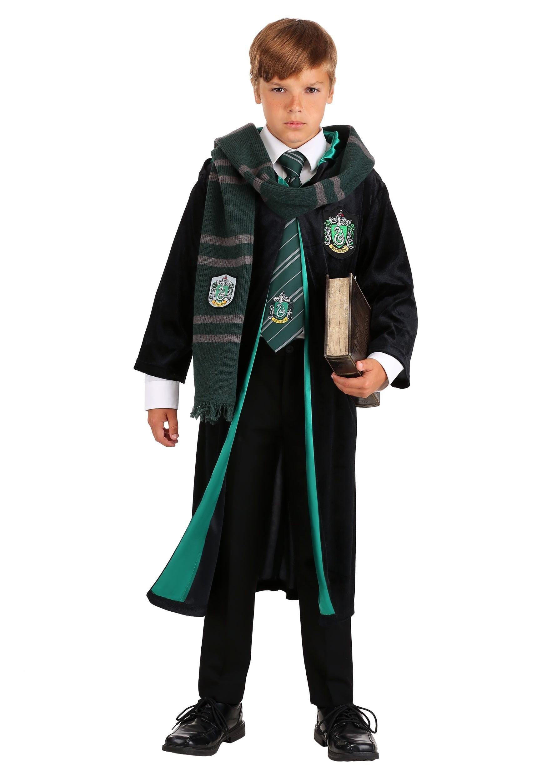 Jerry Leigh Kids Harry Potter Deluxe Slytherin Robe Walmart Com Walmart Com