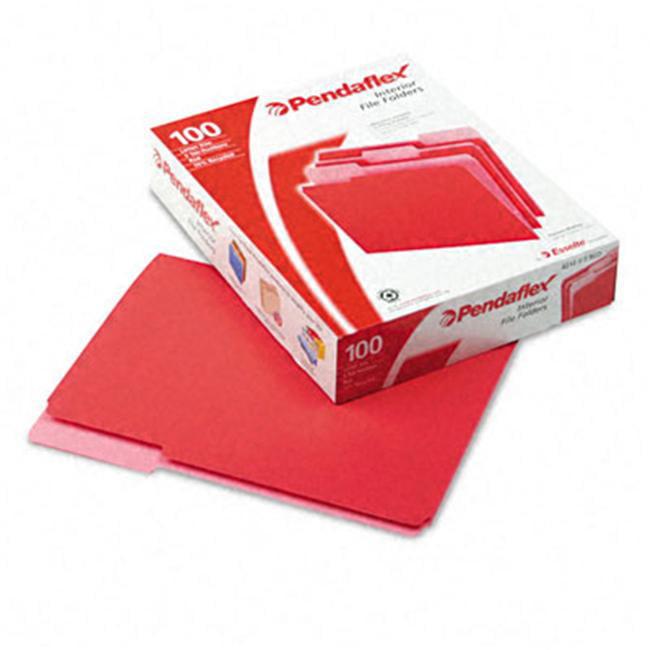 Pendaflex Interior File Folders- 1/3 Cut- Top Tab- Letter 100/Box