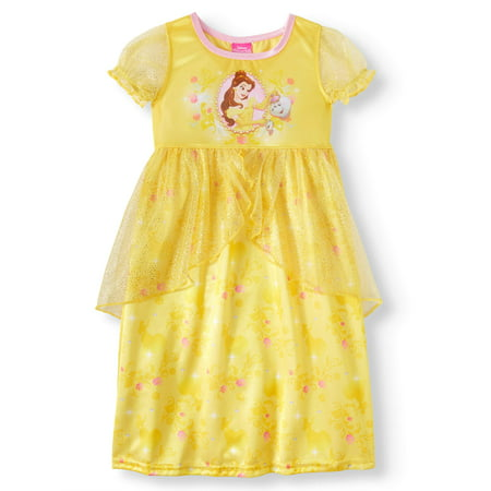 Beauty & The Beast Belle Short Sleeve Fantasy Nightgown (Toddler Girls) (A Girls Fantasy)