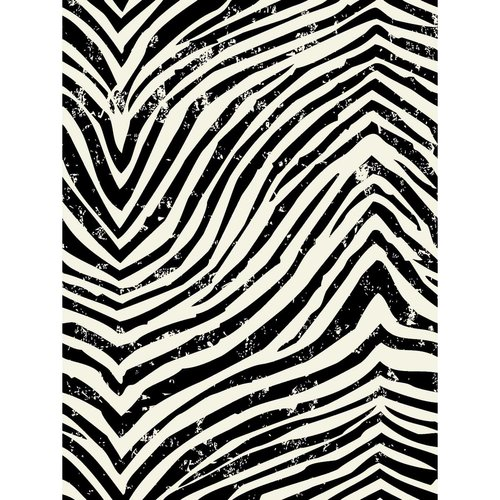 Springs Creative Duck Rustic Zebra Fabric, 1.5 Yard Bolt, Black