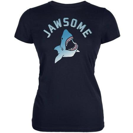 - Jawsome Navy Juniors Soft T-Shirt