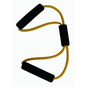 15-Inch Figure 8 Resistance Training Tube in Yellow - Extra Light Resistance