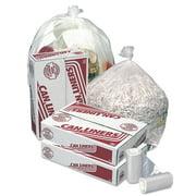 Pitt Plastics High-Density Mini-Roll Trash Bags, 12-16gal, 6mic, 24x33, Natural Color, 1000/CT -PITMR24339MC
