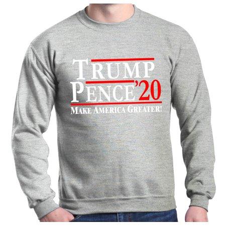 99b1b872 Shop4Ever Men's Trump Pence '20 Make America Greater! Crewneck Sweatshirt -  Walmart.com