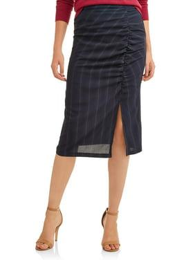 304176e065 Product Image L.N.V. Women's Side Ruched Midi Skirt