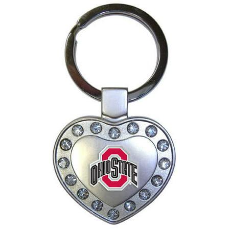 Ohio State University Metal Heart - Ncaa Keychains Shop