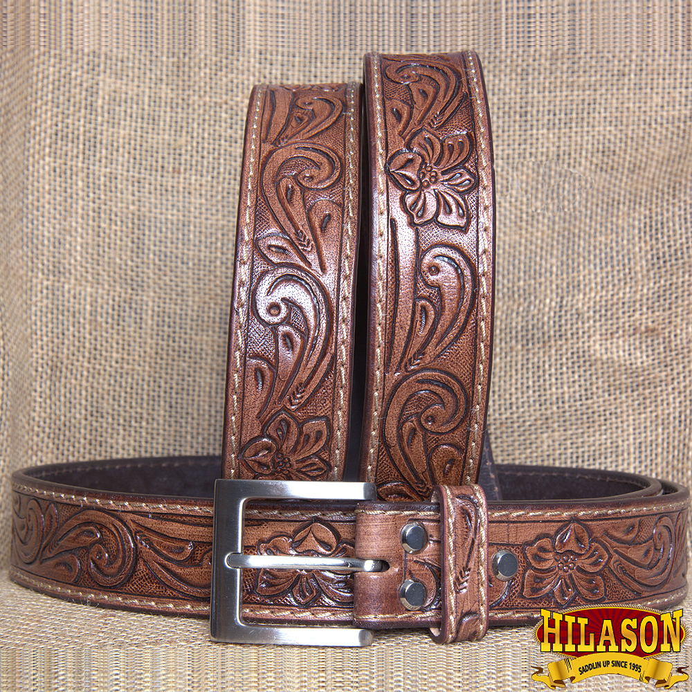 "30-60"" HILASON HEAVY DUTY HAND MADE GENUINE LEATHER GUN HOLSTER BELT WORK MEN BROWN"