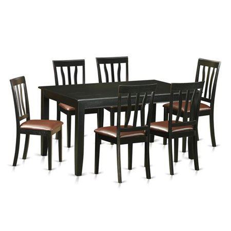 black 7 piece dining room set | Dining Room Sets - Table & 6 Chairs, Black - 7 Piece ...