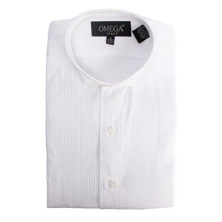 Gravity Threads Mens 1/8 inches Pleat Tuxedo Dress Button Down Shirt