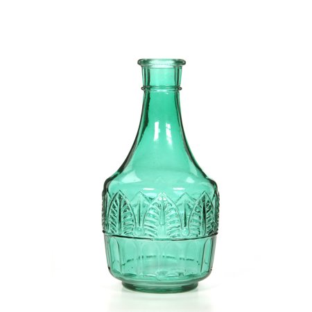 Green Glass Leaf Vase - Green Glass Vases
