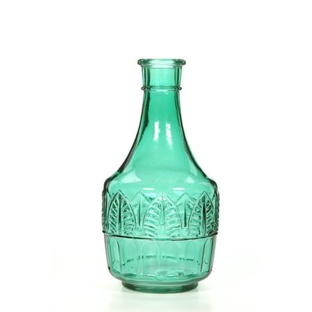 - Green Glass Leaf Vase