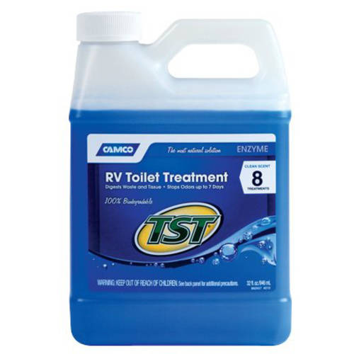 Camco TST Blue Enzyme Toilet Chemical, 32oz