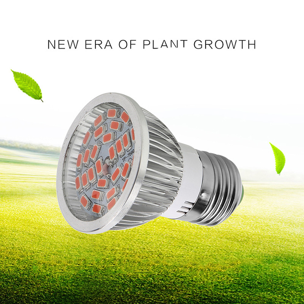 E27 28W 28-LEDPlant Grow Light Bulb Hydroponic Veg Flower Full Spectrum