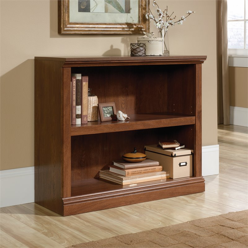 Sauder Select 2 Shelf Bookcase in Oiled Oak