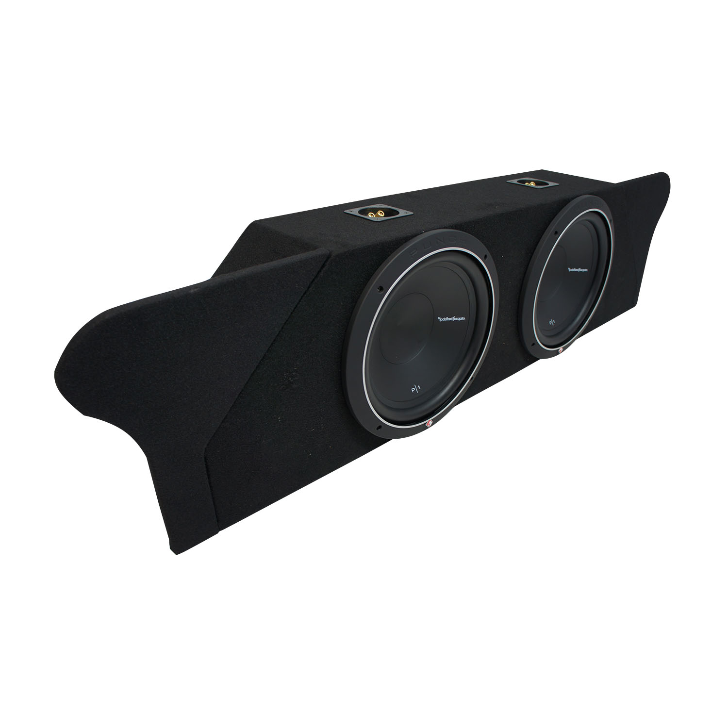 """10-15 Chevy Camaro Coupe Trunk Rockford Punch P1S410 Dual 10"""" Sub Box New 2 Ohm"""