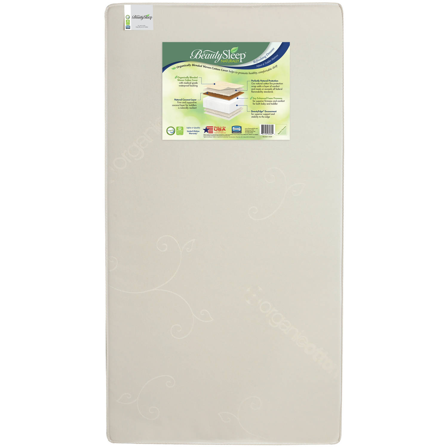 BeautySleep Naturally Refreshing Dreams Crib and Toddler Mattress by Simmons Kids by Simmons Kids