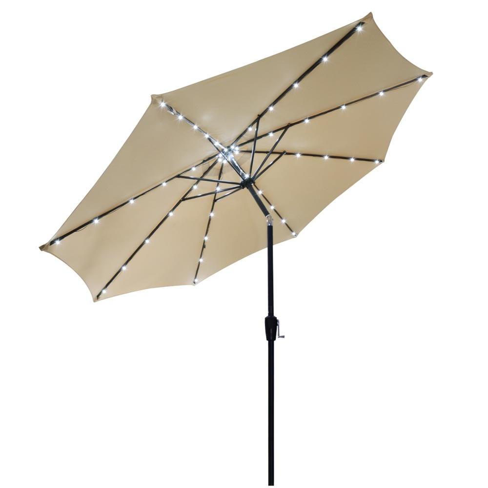 Yescom 10ft 8 Ribs Aluminum Outdoor Patio Umbrella Gazebo Garden Sunshade w  48 LED Cool... by Yescom