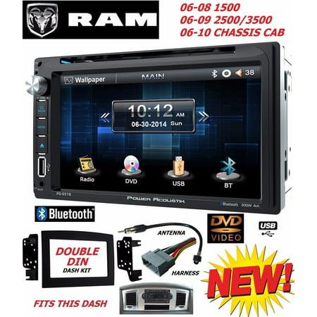 06 07 08 09 10 RAM TOUCHSCREEN BLUETOOTH CD DVD USB DOUBLE DIN CAR STEREO