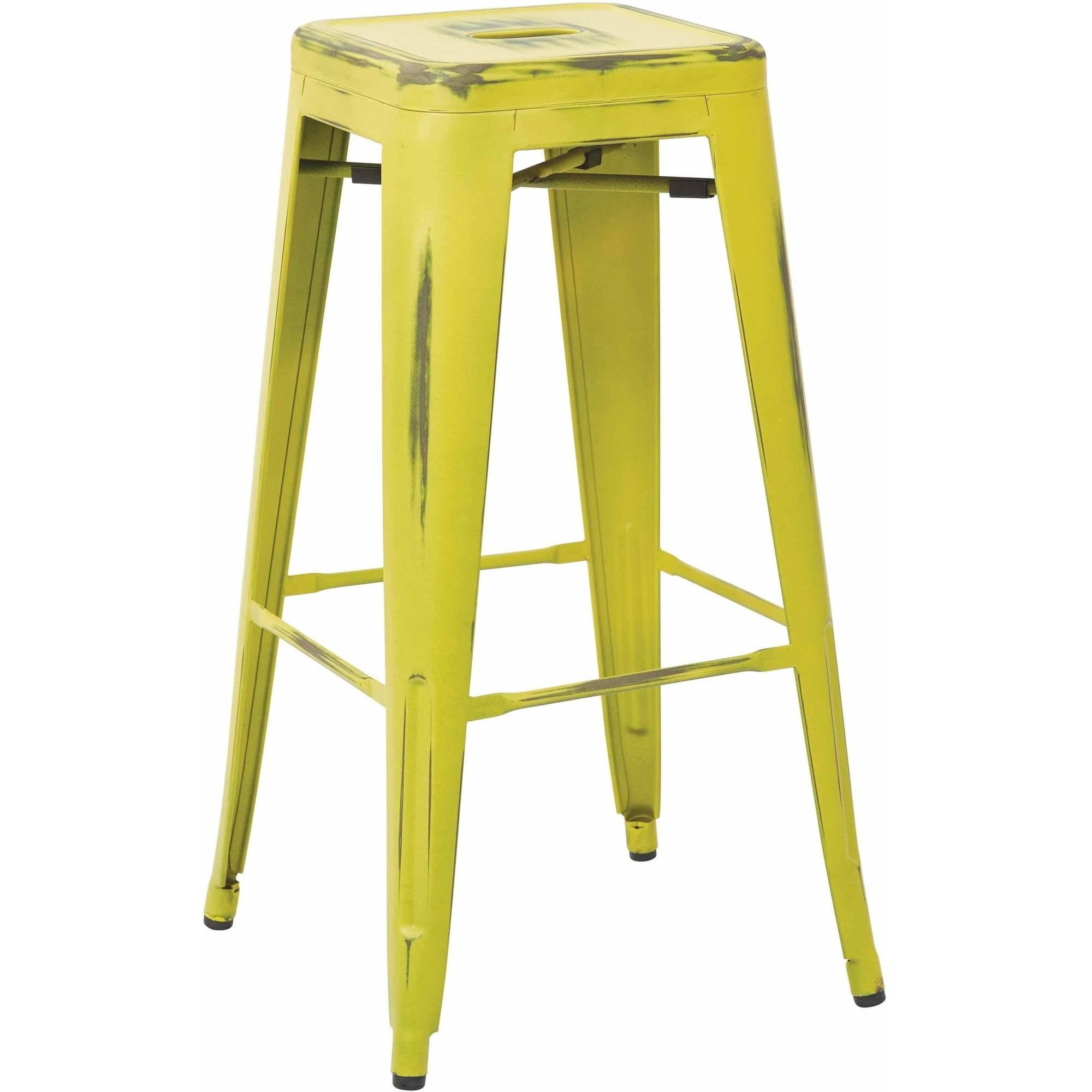 "Bristow 30"" Antique Metal Barstool, 4 Pack"
