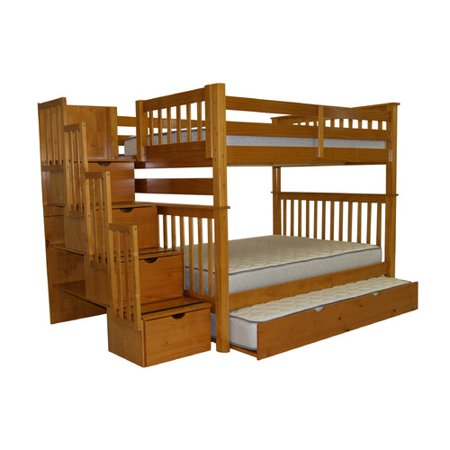 Bedz King Full Over Full Bunk Bed Trundle