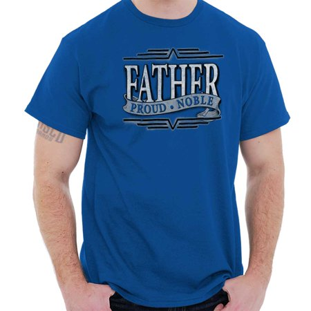 Brisco Brands Proud Noble Fathers Day Dad Mens Short Sleeve T-Shirt ()
