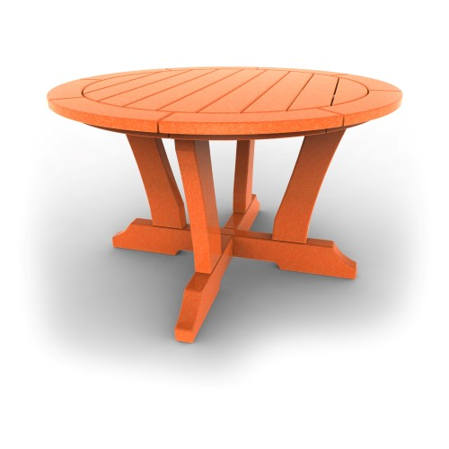 Round Patio Table by Malibu Outdoor - Laguna, Tangerine - 36\