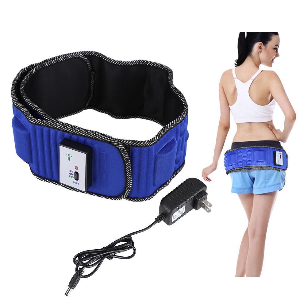 Yosoo Electric Fitness Slimming Massager Waist Trimmer Belt Waist Abdominal Belly Vibro Shape Vibrating Heating Waist Belt for Weight Loss Fat Burning Tool