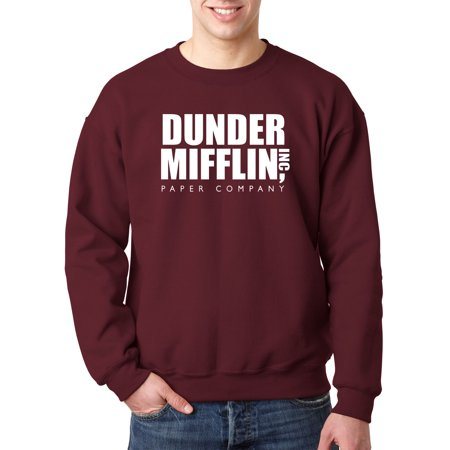 New Way 872 - Crewneck Dunder Mifflin Inc Paper Company Office Logo Sweatshirt 3XL Maroon