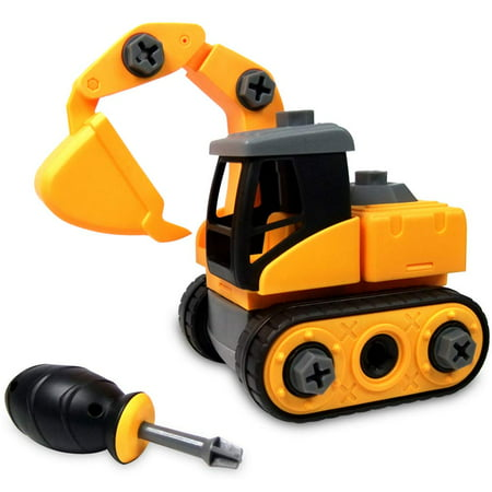 Kids toy Constructions and farm vehicles toys,Take apart toy,Safe Buiding Vehicle toy,excavator Bulldozer play vehicles for kids aged 3-5 years
