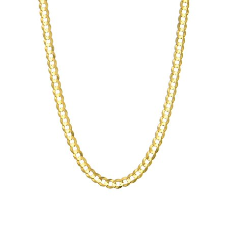 14 KARAT YELLOW GOLD SOLID CURB 3.15MM WIDE CHAIN WITH LOBSTER CLASP IN 8.50 INCHES LONG BRACELET