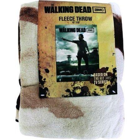 Walking Dead Throw Blankets Fascinating AMC Series The Walking Dead Rick Grimes Throw Blanket Walmart