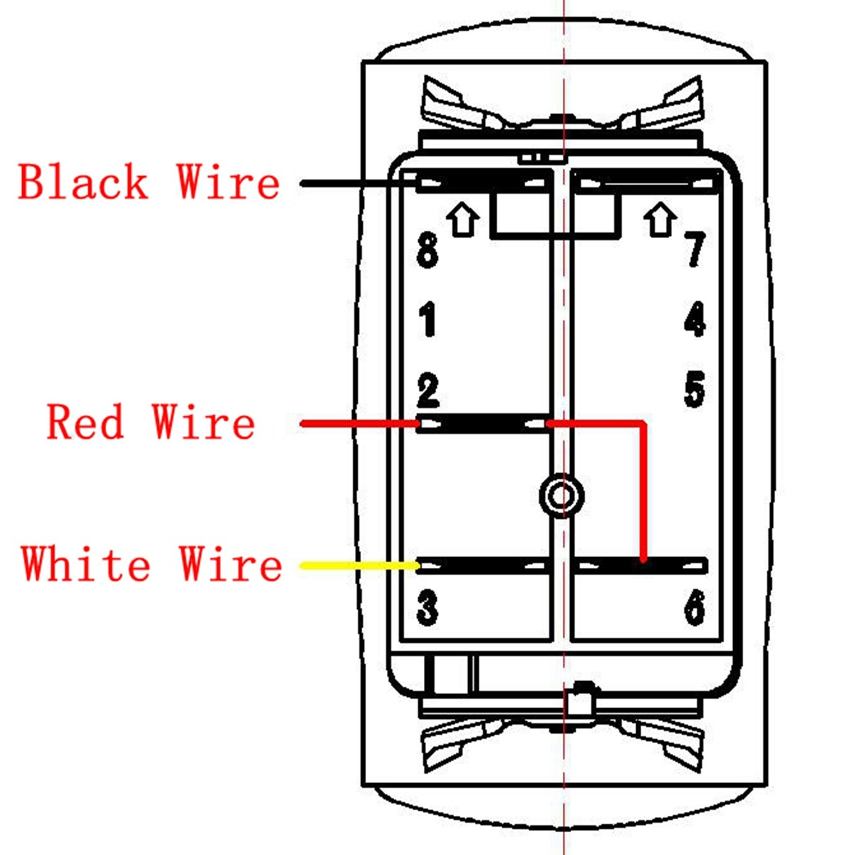 MATCC 12V 300W LED Rocker Switch Light Bar Wiring Harness On Off ...