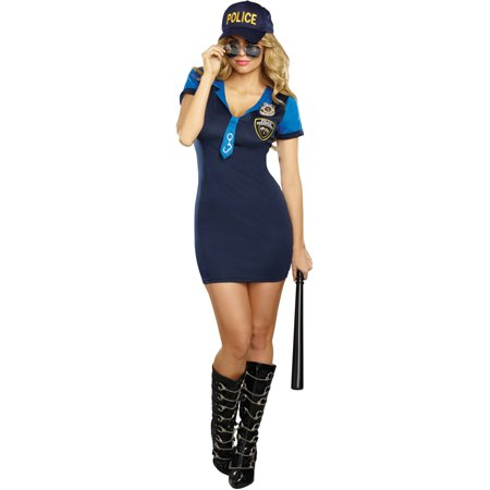 The Dirty Detective Women's Adult Halloween Costume (Halloween Dirty Costumes)