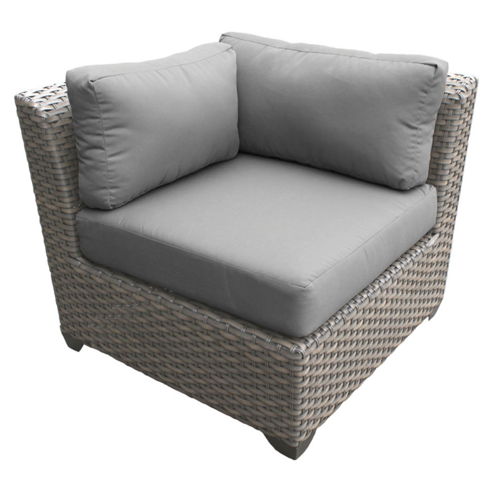 TK Classics Florence Outdoor Corner Chair with 2 Sets of Cushion Covers