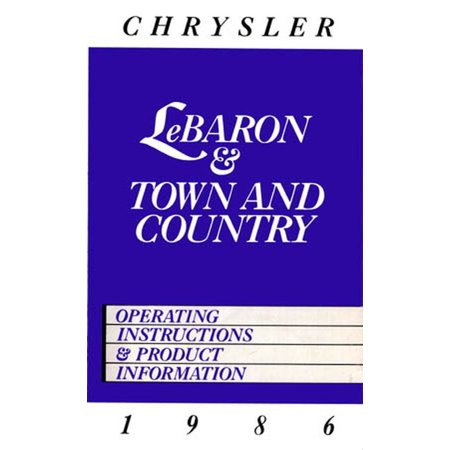 Bishko OEM Repair Maintenance Owner'S Manual Bound for Chrysler Lebaron, Town & Country (2010 Chrysler Town And Country Owners Manual)