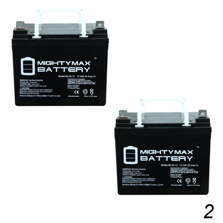 Wheelchair Mobility Battery (12V 35Ah Wheelchair Battery for Pride Mobility Jazzy 1103 - 2 Pack )