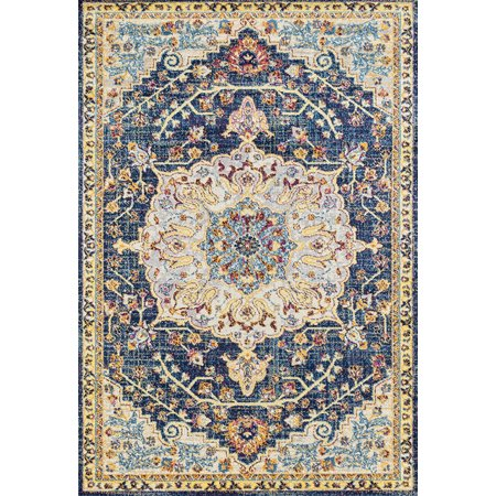 - United Weavers Abigail Area Rugs - 713 20160 Transitional Blue Scrolls Petals Leaves Bordered Rug