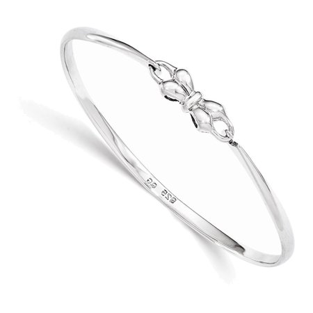 - Sterling Silver Bow Baby Bangle Bracelet