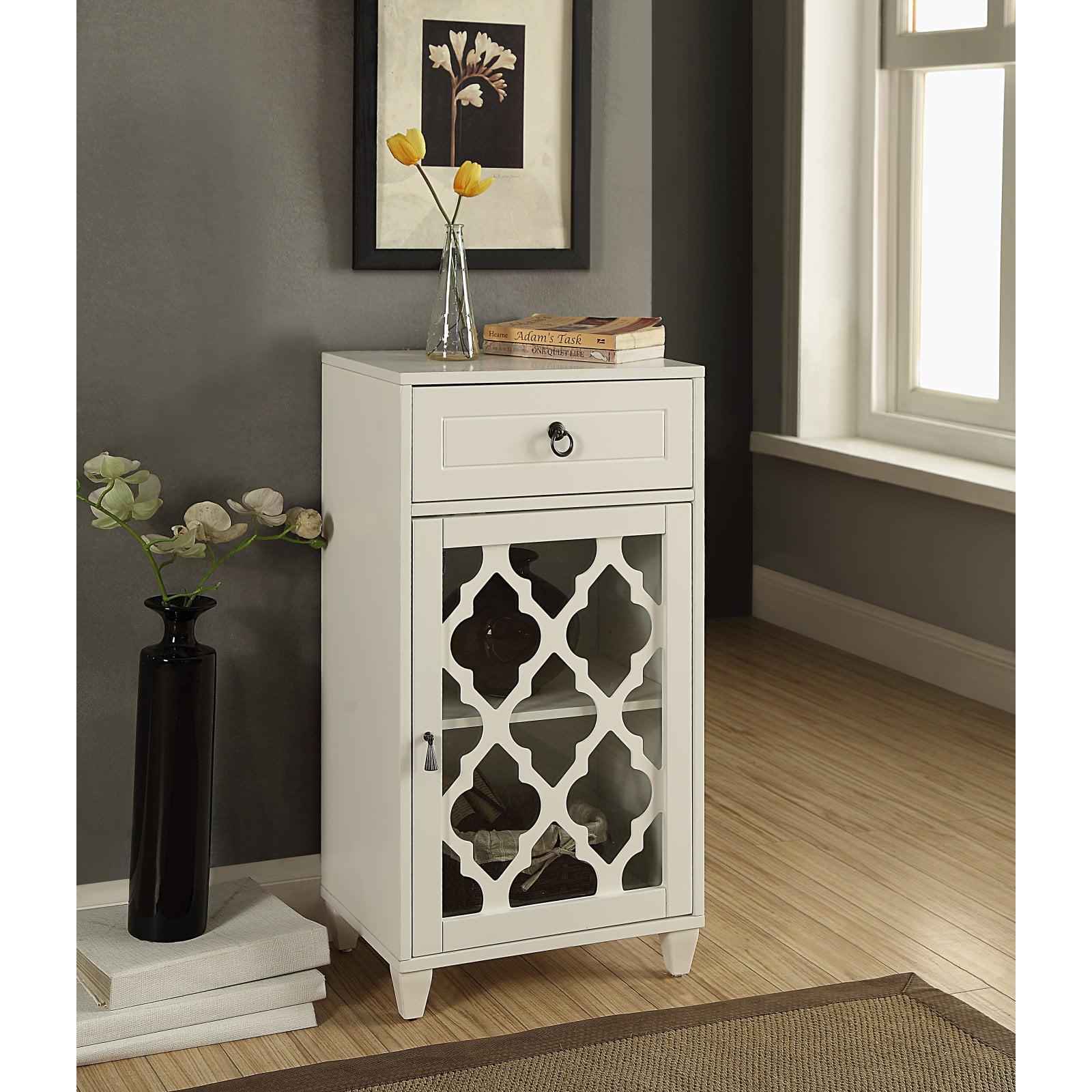 ACME Ceara Floor Cabinet, White