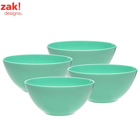 Zak Designs Ella Soup Bowls 30 oz. Green , 4-piece set