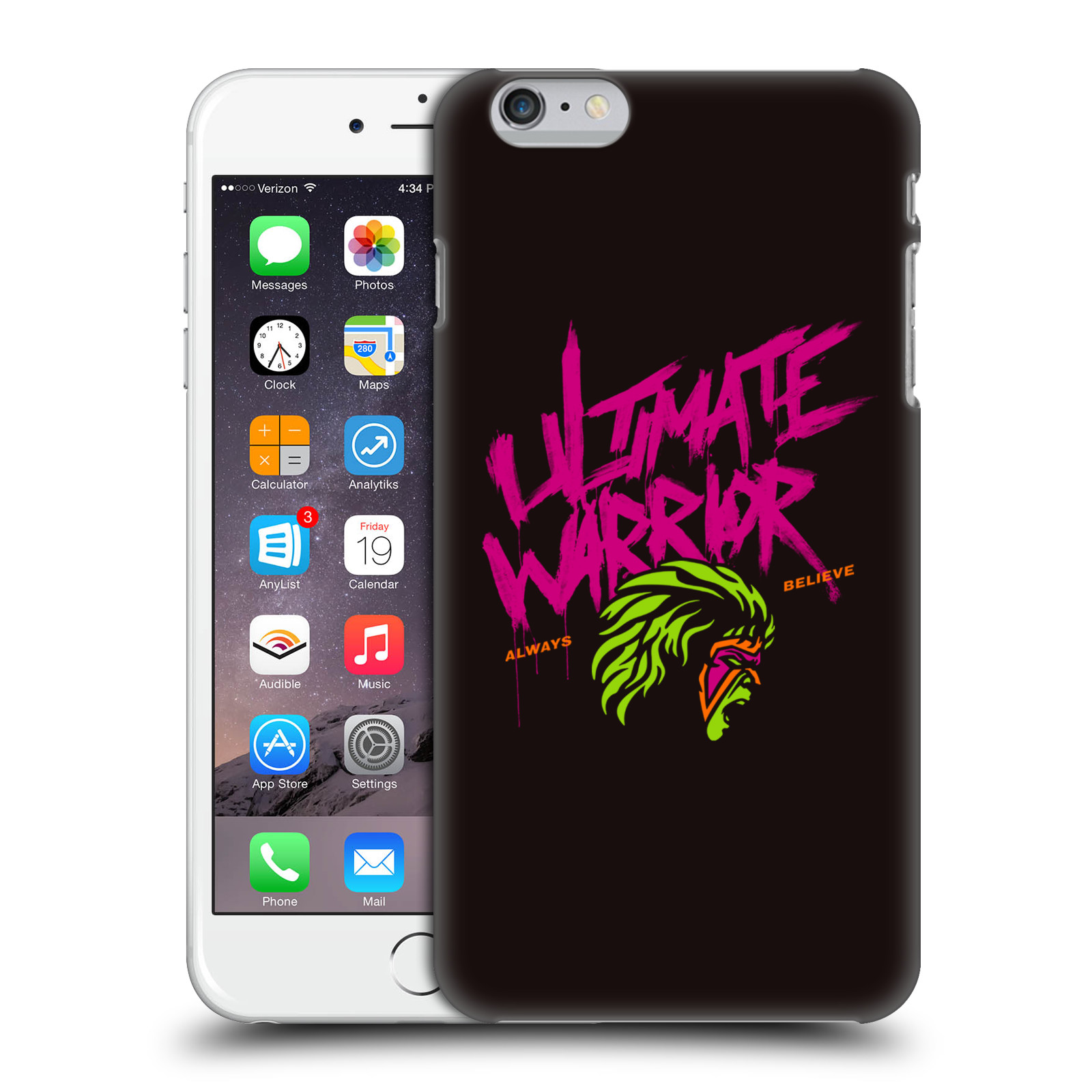 OFFICIAL WWE ULTIMATE WARRIOR HARD BACK CASE FOR APPLE IPHONE PHONES