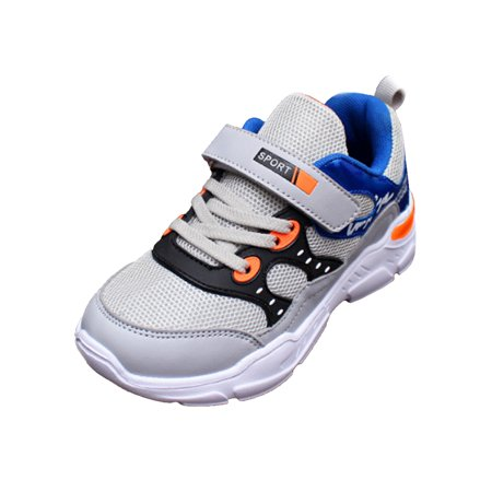Kid's Boys Children Sport Running Breathable Mesh Jogger Lace Up Sneaker Shoes
