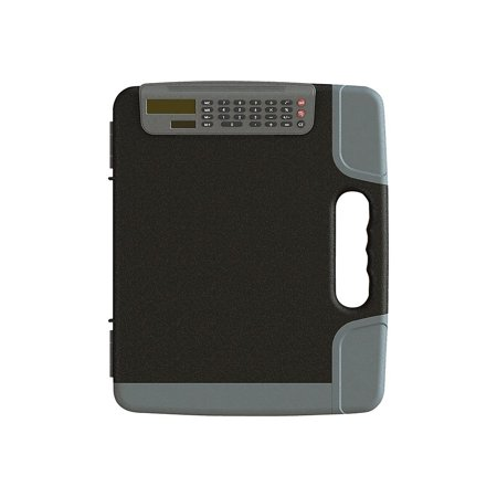 Staples Portable Clipboard with Calculator Hvy Duty Black 14 3/8 x 12 x 1 5/8 1671416