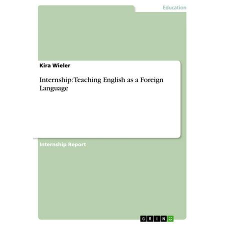 Internship: Teaching English as a Foreign Language -