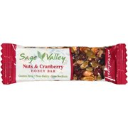 Sage Valley Nut & Cranberry Honey Bar, 1.4 oz, (Pack of 12)