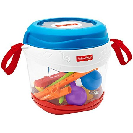 Fisher Price On The Go Drum Set With Musical Instruments