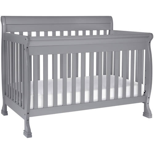 DaVinci Kalani 4-in-1 Fixed-Side Convertible Crib with Toddler Rail, Grey