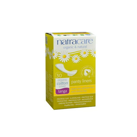 Natracare Natural Organic Thong Panty Liners, 30 Ct